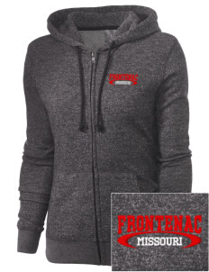 Frontenac Embroidered Women's Marled Full-Zip Hooded Sweatshirt