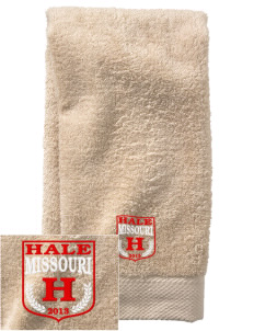 Hale  Embroidered Zero Twist Resort Hand Towel