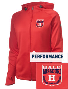 Hale Embroidered Women's Tech Fleece Full-Zip Hooded Jacket