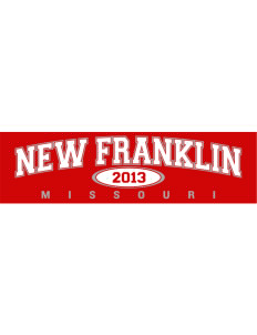 "New Franklin Bumper Sticker 11"" x 3"""