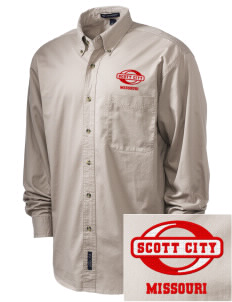Scott City Embroidered Tall Men's Twill Shirt