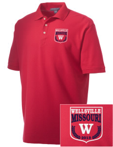 Wellsville Embroidered Men's Performance Plus Pique Polo