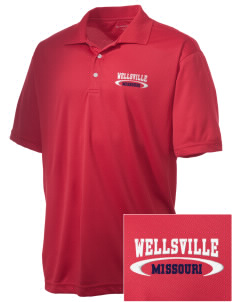 Wellsville Embroidered Men's Double Mesh Polo