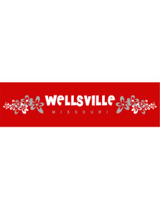 "Wellsville Bumper Sticker 11"" x 3"""