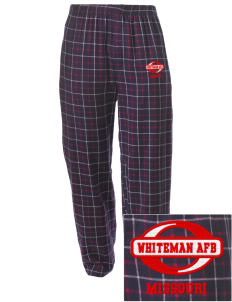 Whiteman AFB Embroidered Men's Button-Fly Collegiate Flannel Pant