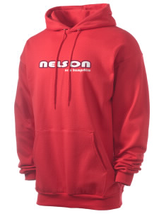Nelson Men's 7.8 oz Lightweight Hooded Sweatshirt