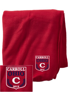 Carroll Embroidered Holloway Stadium Fleece Blanket