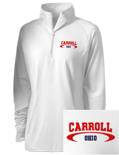 Carroll Embroidered Ladies Stretched Half-Zip Pullover