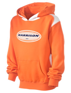Harrison Kid's Pullover Hooded Sweatshirt with Contrast Color