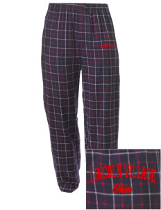 Lincoln Village Embroidered Men's Button-Fly Collegiate Flannel Pant