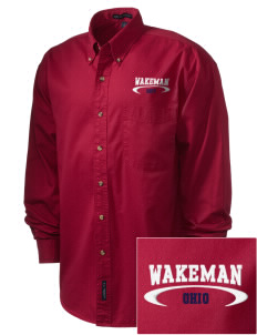 Wakeman Embroidered Men's Twill Shirt