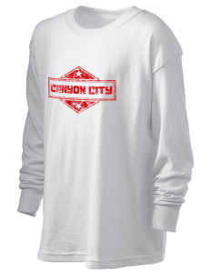 Canyon City Kid's 6.1 oz Long Sleeve Ultra Cotton T-Shirt