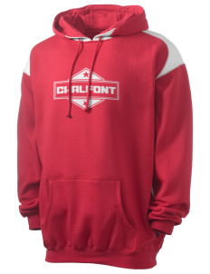 Chalfont Men's Pullover Hooded Sweatshirt with Contrast Color