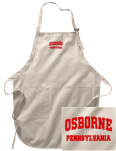 Osborne Embroidered Full-Length Apron with Pockets