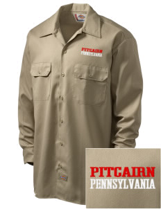 Pitcairn Embroidered Dickies Men's Long-Sleeve Workshirt