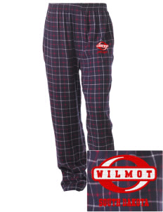 Wilmot Embroidered Unisex Button-Fly Collegiate Flannel Pant