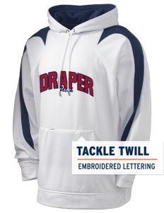 Draper Holloway Men's Sports Fleece Hooded Sweatshirt with Tackle Twill