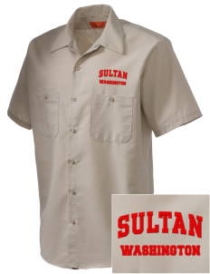 Sultan Embroidered Men's Cornerstone Industrial Short Sleeve Work Shirt