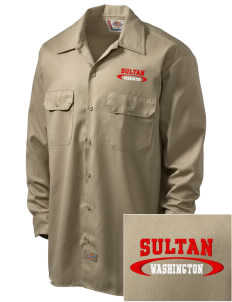 Sultan Embroidered Dickies Men's Long-Sleeve Workshirt