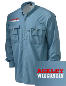 Ackley Embroidered Men's Explorer Shirt with Pockets