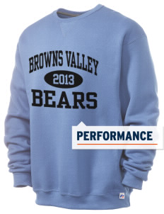 Browns Valley Elementary School Bears  Russell Men's Dri-Power Crewneck Sweatshirt