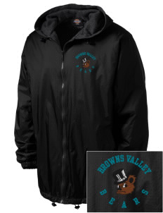 Browns Valley Elementary School Bears Embroidered Dickies Men's Fleece-Lined Hooded Jacket