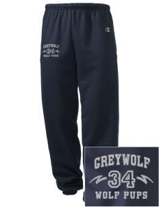 Greywolf Elementary School Wolf Pups Embroidered Champion Men's Sweatpants