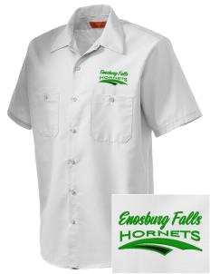 Enosburg Falls Middle High School Hornets Embroidered Men's Cornerstone Industrial Short Sleeve Work Shirt