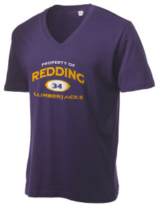 Redding Adventist Academy Lumberjacks Alternative Men's 3.7 oz Basic V-Neck T-Shirt