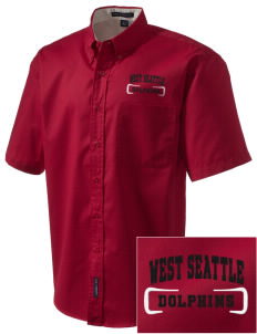 West Seattle YMCA Dolphins Embroidered Men's Easy Care Shirt