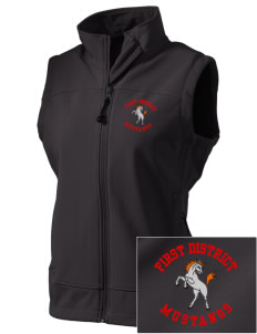 First District Elementary School Mustangs  Embroidered Women's Glacier Soft Shell Vest