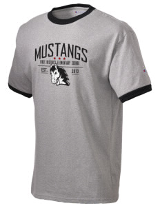 First District Elementary School Mustangs Champion Men's Ringer T-Shirt