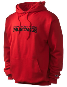 First District Elementary School Mustangs Champion Men's Hooded Sweatshirt