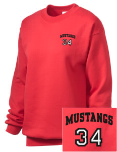 First District Elementary School Mustangs Embroidered Unisex Crewneck Sweatshirt