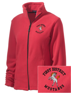 First District Elementary School Mustangs Embroidered Women's Wintercept Fleece Full-Zip Jacket