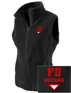 First District Elementary School Mustangs Embroidered Women's Fleece Vest