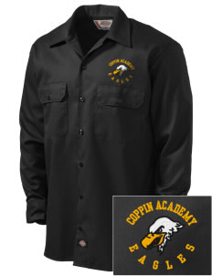 Coppin Academy Eagles Embroidered Dickies Men's Long-Sleeve Workshirt