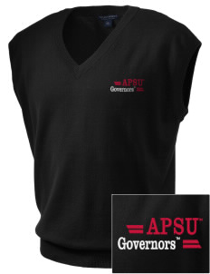 Austin Peay State University Governors Embroidered Men's Fine-Gauge V-Neck Sweater Vest