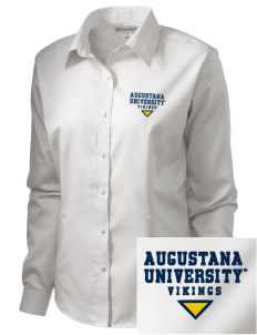 Augustana College Vikings  Embroidered Women's Long Sleeve Non-Iron Twill Shirt