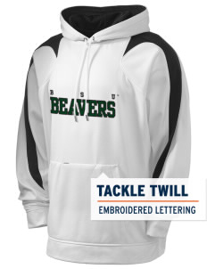 Bemidji State University Beavers Holloway Men's Sports Fleece Hooded Sweatshirt with Tackle Twill