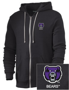 University of Central Arkansas Bears Embroidered Alternative Men's Rocky Zip Hooded Sweatshirt