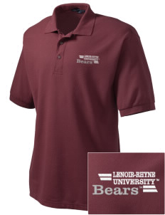 Lenoir-Rhyne University Bears Embroidered Tall Men's Silk Touch Polo