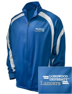 Longwood University Lancers Embroidered Holloway Men's Tricotex Warm Up Jacket