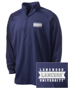 Longwood University Lancers Embroidered Men's Stretched Half Zip Pullover