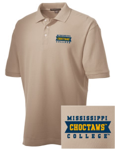 Mississippi College Choctaws Embroidered Men's Performance Plus Pique Polo