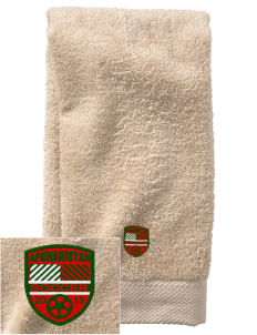 Afghanistan Soccer  Embroidered Zero Twist Resort Hand Towel