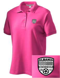 Albania Soccer Women's Embroidered Silk Touch Polo