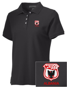 Albania Soccer Embroidered Women's Performance Plus Pique Polo