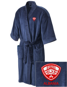 Albania Soccer Embroidered Terry Velour Robe