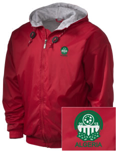Algeria Soccer Embroidered Holloway Men's Hooded Jacket